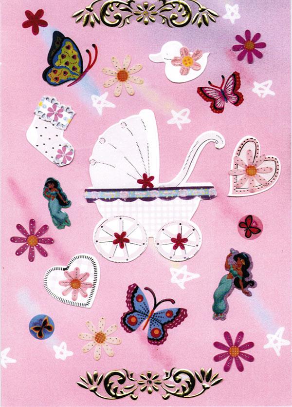 Girls pink card