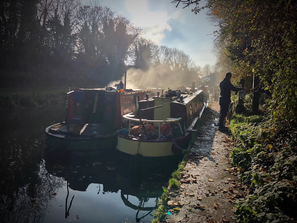 Picture of boats on a canal next to each other